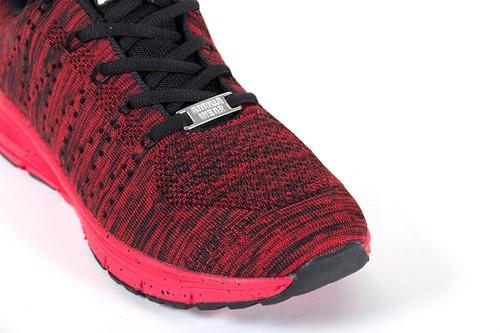 Brooklyn Knitted Sportschoenen - Rood/Zwart-2