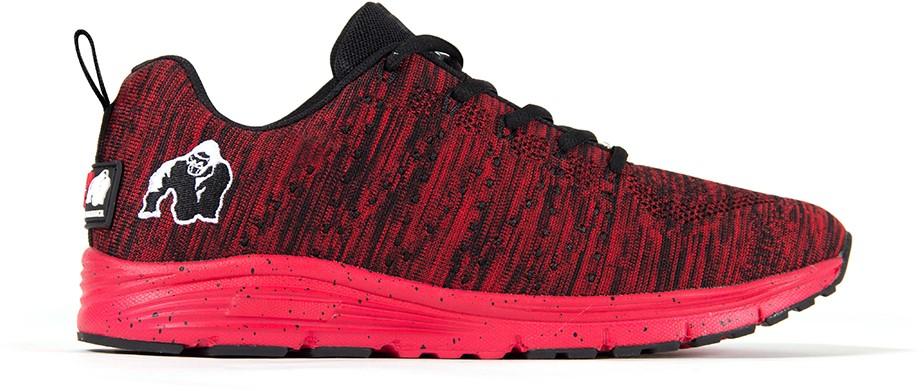 Brooklyn Knitted Sneakers - Rood/Zwart