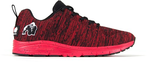 Brooklyn Knitted Sneakers - Rood/Zwart - EU 37