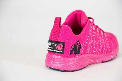 Brooklyn Knitted Sneakers - Roze/Wit-3