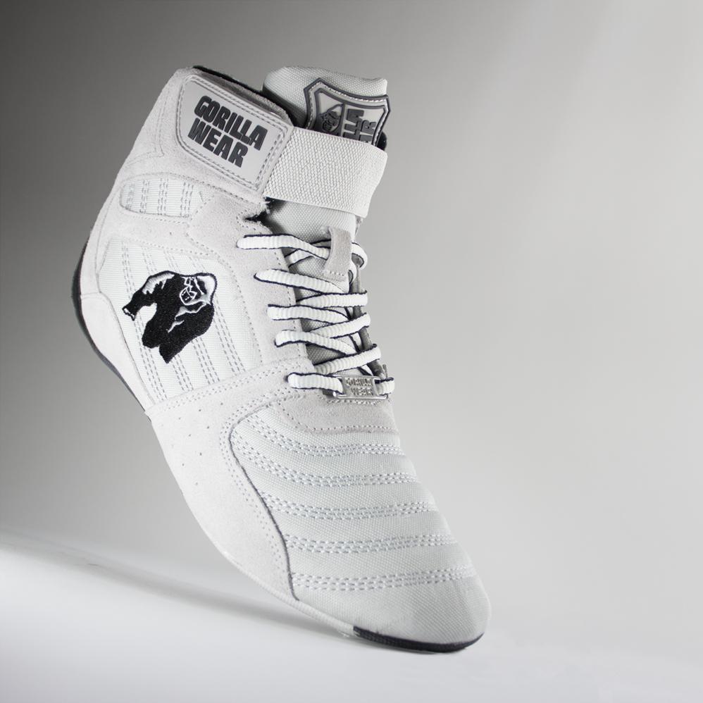 Bodybuilding Gym Sportschuhe White 46 EU GORILLA WEAR Fitness Schuhe Herren Perry High Tops