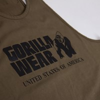 Classic Tank Top - Army Green - Detail