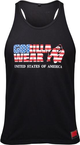 USA Tank Top - Zwart