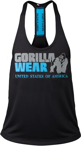 Nashville Tank Top - Black/Light Blue