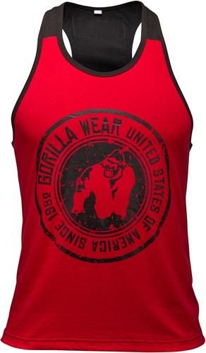 Roswell Tank Top - Rood/Zwart