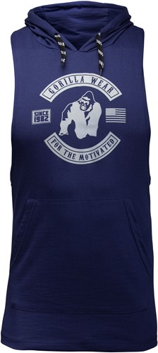 Lawrence Hooded Tank Top - Blauw