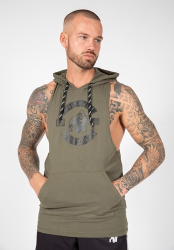Lawrence Hooded Tank Top - Army Green