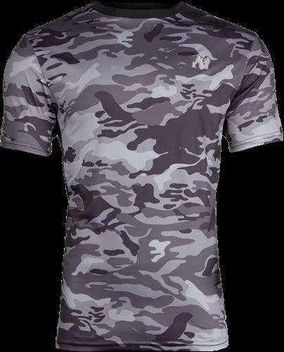 Kansas T-shirt - Zwart/Grijs Camo - 5XL