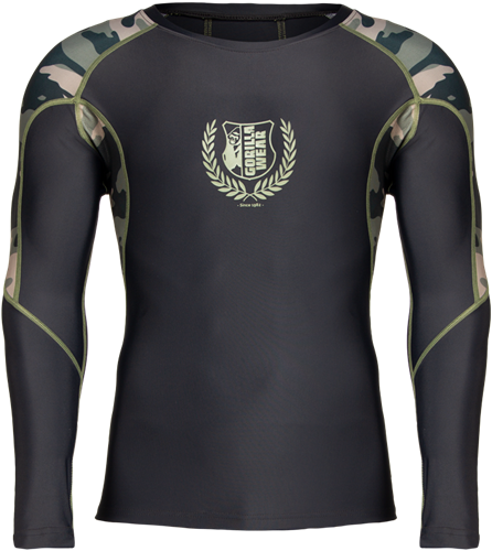 Lander Rashguard Long Sleeves - Army Green Camo
