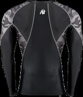 Lander Rashguard Long Sleeves - Black/Gray Camo-2