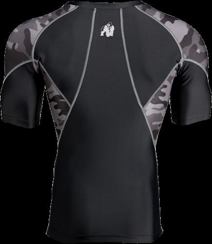 Cypress Rashguard Short Sleeves - Black/Gray Camo-2