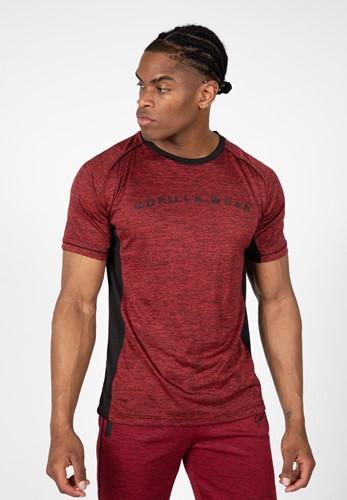 Fremont T-Shirt - Bordeauxrood/Zwart