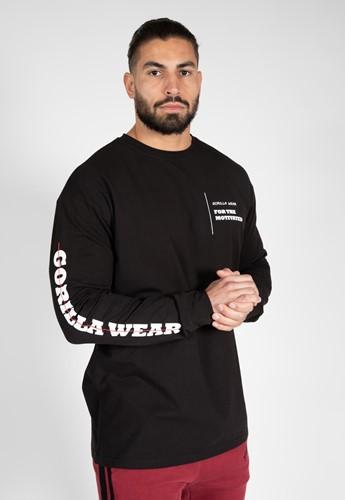 Boise Oversized Long Sleeve - Zwart