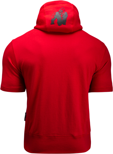 Boston Korte mouwen Hoodie - Rood (met zwart logo) -2