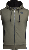 Springfield S/L Zipped Hoodie - Army Green