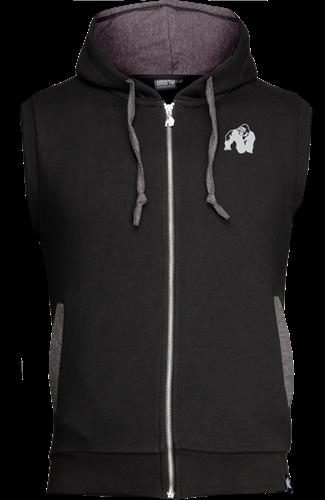 Gorilla Wear Boston Short Sleeve Hoodie Men Bodybuilding Gym Hooded Pullover Top