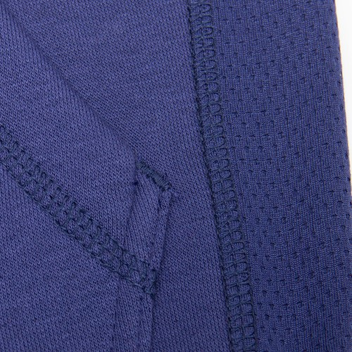 Bowie Mesh Zipped Hoodie - Navy Blue - Detail