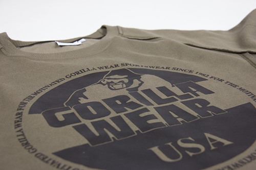 Bloomington Crewneck Sweatshirt - Army Green - Detail