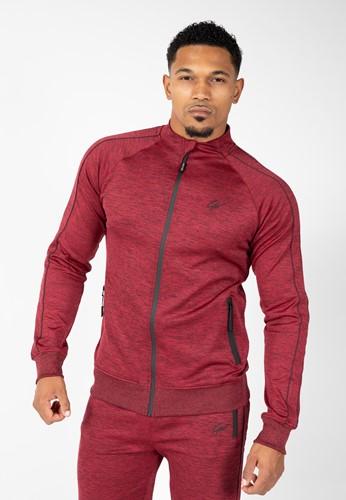 Wenden Track Jacket - Burgundy Red