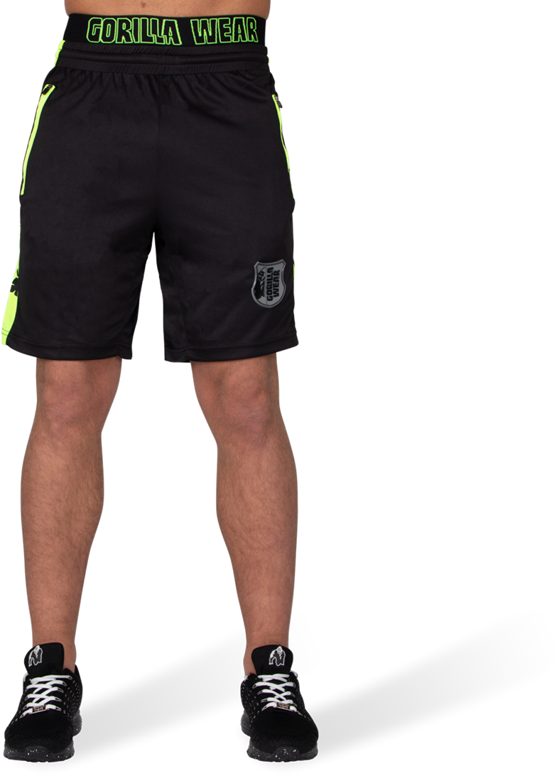 Gorilla Wear Shelby Shorts Black//Neon Lime L