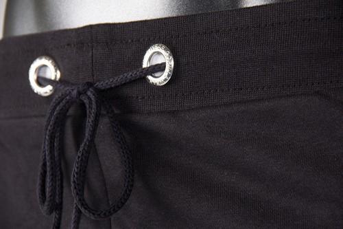 Alabama Drop Crotch Shorts - Black - Detail
