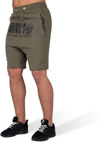Alabama Drop Crotch Shorts - Army Green