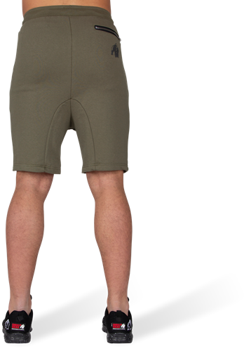 Alabama Drop Crotch Shorts - Legergroen-3
