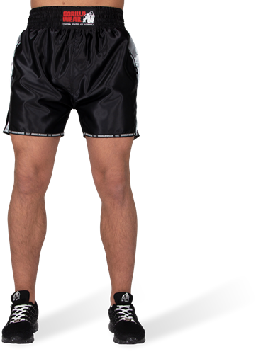Henderson Muay Thai/Kickboxing Shorts - Black/Gray-2
