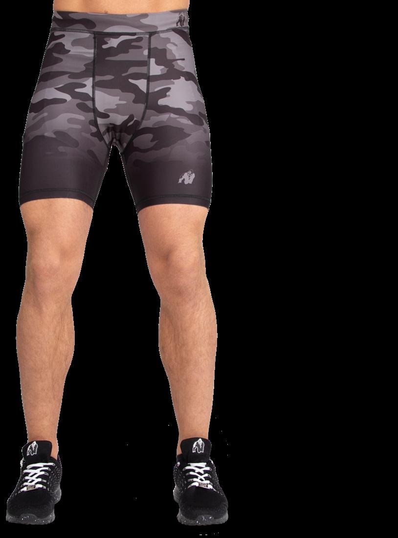 76c4c1dc8661f Franklin Shorts - Zwart/Grijs Camo Gorilla Wear