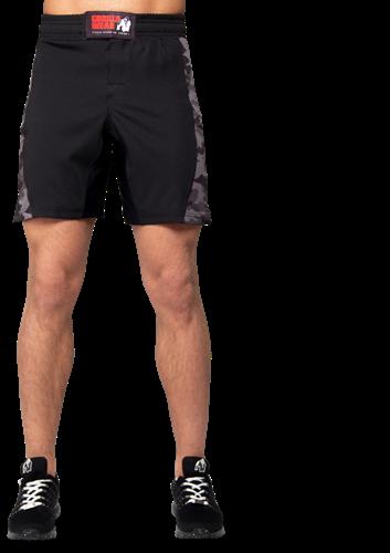Kensington MMA Fightshorts - Black/Gray Camo-2