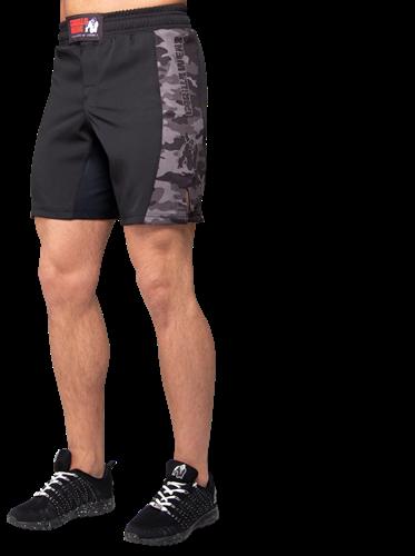 Kensington MMA Fightshorts - Black/Gray Camo