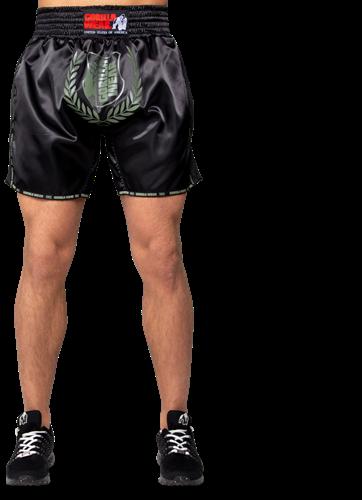 Murdo Muay Thai/Kickboxing Shorts - Army Green-2