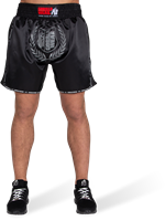 Murdo Muay Thai / Kickboxing Shorts - Zwart/Grijs-2