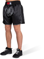 Murdo Muay Thai / Kickboxing Shorts - Zwart/Grijs