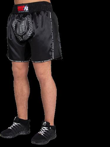Murdo Muay Thai/Kickboxing Shorts - Black/Gray