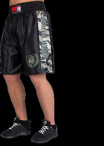 Vaiden Boxing Shorts - Army Green Camo