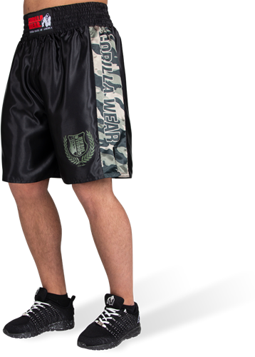 Vaiden Boxing Shorts - Legergroen Camo