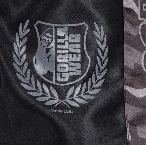Vaiden Boxing Shorts Black Grey Details