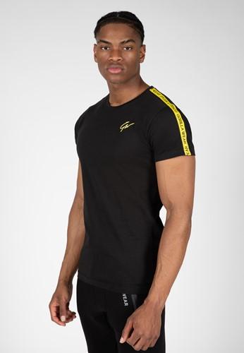 Chester T-shirt - Zwart/Geel