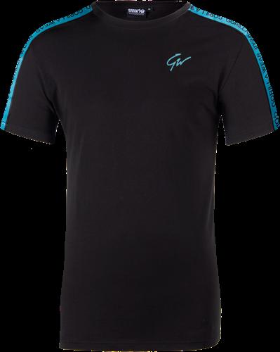 Chester T-shirt - Zwart/Blauw