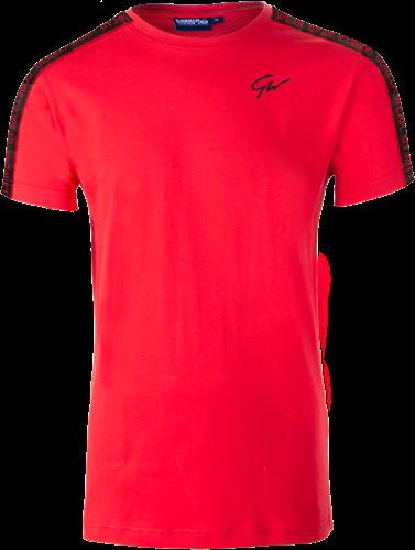 Chester T-shirt - Rood/Zwart