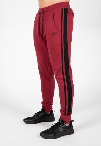 Banks Pants - Burgundy Red/Black