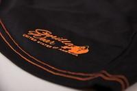 Odessa Cross Back Tank Top - Black/Neon Orange - Detail