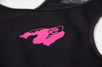 Santa Monica tank top - Black/Pink - Detail