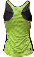 Marianna Tank Top - Black/ Neon Lime-2