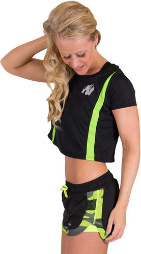 Columbia Crop Top - Zwart/Neon Lime