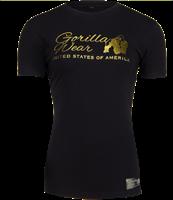 Luka T-shirt - Black/Gold