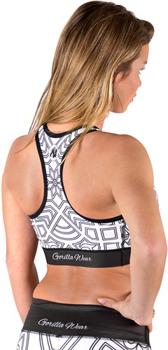 Pueblo Sports Bra - Black/White-2