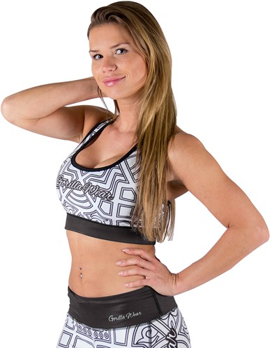 Pueblo Sports Bra - Black/White