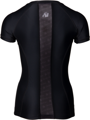 Carlin Compression Korte Mouwen Top - Zwart -2